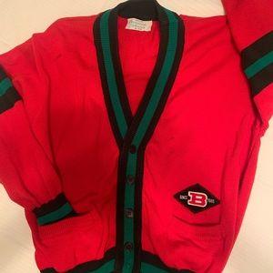 "Benetton Italian ""letter sweater"" cardi"
